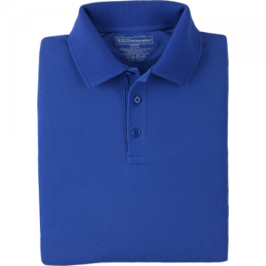 5.11 Tactical Professional Men's Short Sleeve Polo in Academy Blue - Medium