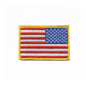 Patch, Americam Flag RWB - Rev  Patch, Americam Flag RWB - Reversed Red,White,Blue Embroidered with matching border Come with hook & loop for quick on-off capability 2 X 3