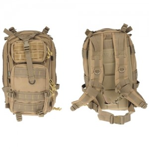Drago Gear Tracker Backpack in Tan 600D Polyester - 14301TN