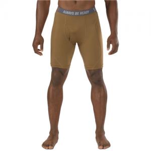 "5.11 Tactical Performace 9"" Men's Underwear in Battle Brown - Large"