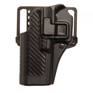 "Blackhawk CQC Serpa Left-Hand Multi Holster for Glock 26, 27, 33/Colt 1911/Beretta 92, 96/Sig P228, P229 in Black Carbon Fiber (3.87"") - 410008BK-L"