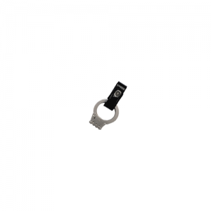 Boston Leather Handcuff Strap in Black Clarino - 55192