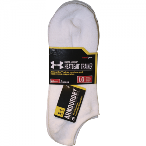 UA HeatGear SOLO 3 Pack Color: White Size: Large