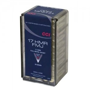 CCI 17 HMR 20 Grain Full Metal Jacket, 50 Round Box, 0055