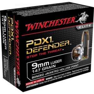 Winchester Elite 9mm Bonded PDX, 147 Grain (20 Rounds) - S9MMPDB1