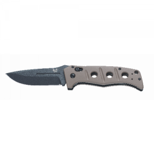 "Benchmade Sibert Automatic Folding Knife, 3.82"" Drop-point Coated Black Plain Blade (Sand G10 Handle) - 2750BKSN"