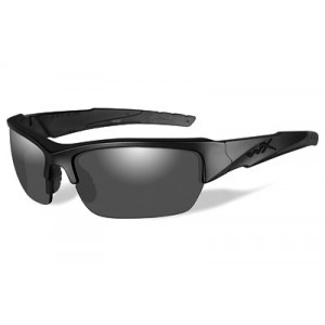 Wiley X Valor, Black Ops, Sunglasses, Small To Large Headsize, Matte Frame, Polarized Smoke Grey Lens, Ansiapproved Chval08