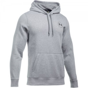 Under Armour Freedom Flag Rival Men's Pullover Hoodie in True Gray Heather - Large