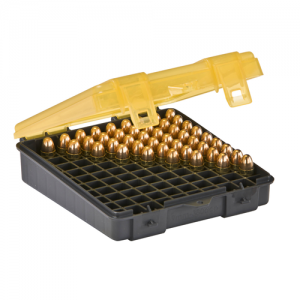 Handgun Ammo Case holds 100 rounds of 9mm and .380 Auto Caliber Bullets