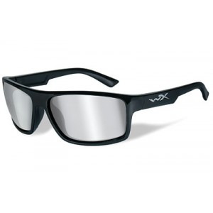 Wiley X Peak, Sunglasses, Medium To Large Head Size, Gloss Black Frame, Smoke Grey Lens, Ansi Approved Acpea01