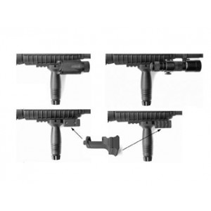 Gg&g, Inc. Mount, Fits Ar-15, For Flashlights, Black Ggg-1131
