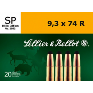 Magtech Ammunition 9.3X74R Soft Point, 285 Grain (20 Rounds) - SB9374RA