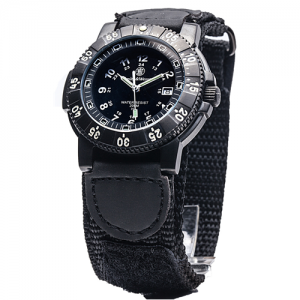 Tactical Watch, Tritium, 45 mm, Black with Nylon Strap