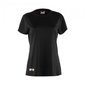 Under Armour HeatGear Women's Long Sleeve Compression Tee in Black - Large