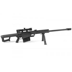 "Barrett 82a1, Semi-automatic Rifle, 50bmg, 29"" Fluted Barrel, Black Finish, Nightforce Shv 3-10x42 Scope W/barrett High Rings, 10rd 17291"