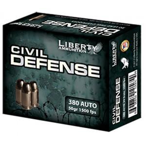 Liberty Ammunition .380 ACP Civil Defense Hollow Point, 50 Grain (20 Rounds) - LACD380023