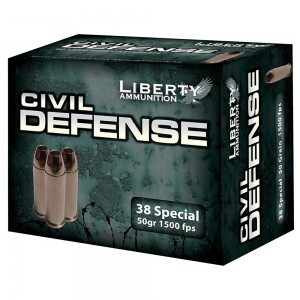Liberty Ammunition Civil Defense .38 Special Hollow Point, 50 Grain (20 Rounds) - LACD38025