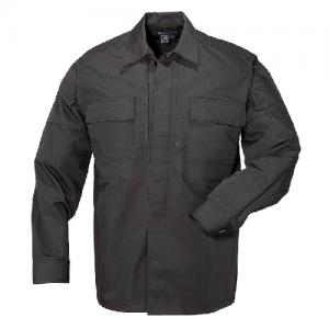 5.11 Tactical Taclite TDU Men's Long Sleeve Shirt in Black - 2X-Large