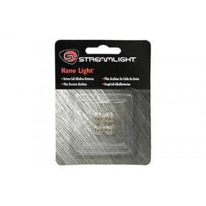Streamlight Battery, Fits Nano, 4- Pack, Silver 61205
