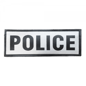 Reflective Name Plate Text: POLICE