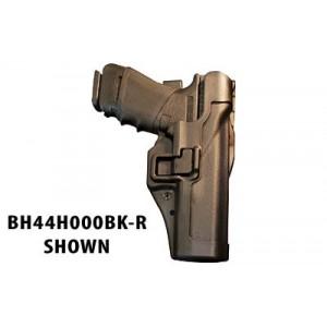 """Blackhawk Level 2 Right-Hand Belt Holster for Beretta 92, 96 in Black Matte Carbon Fiber (5"""") - 44H004BK-R"""