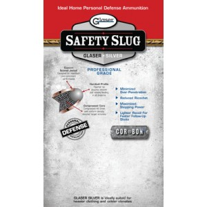 Corbon Ammunition Glaser Safety Slug .38 Super Round Nose, 80 Grain (6 Rounds) - 1600