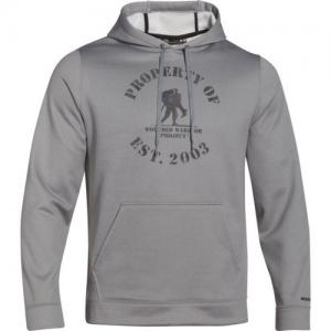 Under Armour Property Of Men's Pullover Hoodie in True Gray Heather - Medium