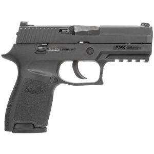 "Sig Sauer P250 Compact .40 S&W 10+1 3.9"" Pistol in Black Nitron (SIGLITE Night Sights) - 250C40BSS10"