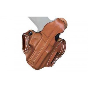 "Desantis Gunhide 1 Thumb Break Scabbard Right-Hand Belt Holster for Smith & Wesson 10, 12, 13, 15, 19, 66, 67 in Tan (2"") - 001TA12Z0"