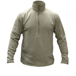 Tru Spec Gen-III ECWS Level-2 Men's 1/2 Zip Long Sleeve in GI Desert Sand - Medium