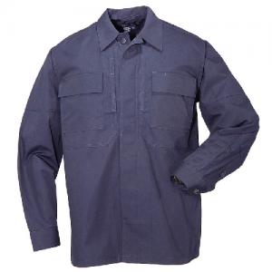5.11 Tactical Ripstop TDU Men's Long Sleeve Shirt in Dark Navy - Large