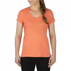 5.11 Tactical Zig Zag V-Neck Women's T-Shirt in Coral - Large