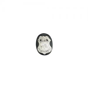 Boston Leather Neck Chain No Clip Badge Holder in Black - 5840C-1
