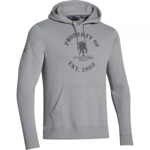 Under Armour Property Of Men's Pullover Hoodie in Carbon Heather - X-Large