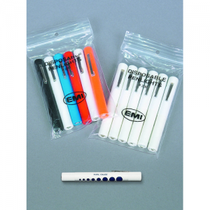 Disposable Penlights, 6-Pack, Black