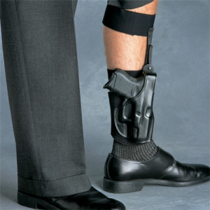Ankle Glove (Ankle Holster) Color: Black Gun: Sig-Sauer P238 Hand: Right - AG608B