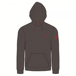 Under Armour Charged Cotton Storm Men's Pullover Hoodie in Carbon Heather - 2X-Large