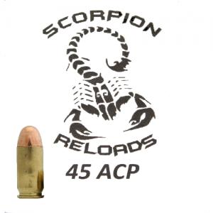 Remanufactured Scorpion .45 ACP, 230 Grain (50 Rounds) - SRA45