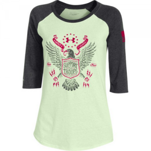 Under Armour Freedom Eagle Women's Long Sleeve Shirt in Sugar Mint - 2X-Large