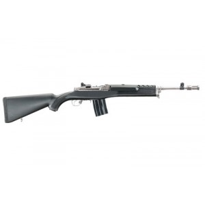 """Ruger Mini Thirty, Semi-automatic Rifle, 7.62x39, 16.1"""" Barrel, 1:10 Right Hand Twist, Matte Stainless Steel Finish, Black Synthetic Stock, 2 Magazines, 20 Rounds 05868"""