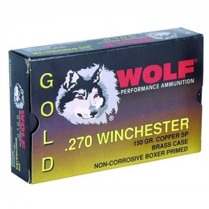 Wolf Performance Ammo Gold .270 Winchester Jacketed Soft Point, 150 Grain (20 Rounds) - G270SP1