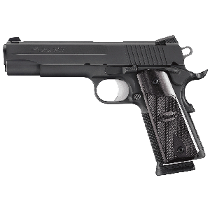 """Sig Sauer 1911 Full Size CA Compliant .45 ACP 8+1 5"""" 1911 in Black Nitron (Rosewood Grip) - 191145BSSCA"""