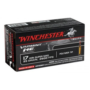 Win Ammo S17W25 17 Win Super Mag 25GR 50Bx/10Cs Polymer Tip