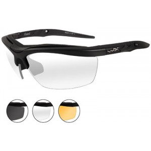 Wileyx Eyewear Guard Changeable Outdoor Safety Glasses Matte Black/Smoke/Clear/Rust 4006