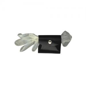 Boston Leather Rubber Glove/CPR Shield Pouch Glove/Shield Pouch in Black Plain/Velcro - 5640V1