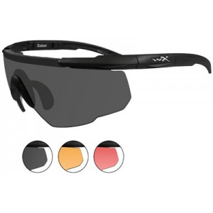 Wileyx Eyewear Saber Advanced Changeable Outdoor Safety Glasses Matte Black 309