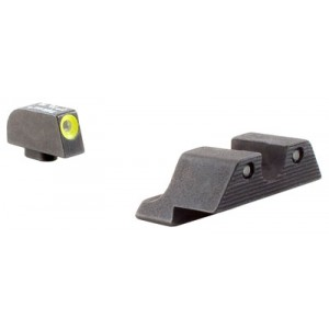 Trijicon Inc Tritium HD Night Sights for Glock Yellow Frame Color Metal Material GL101Y