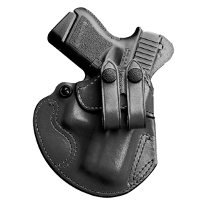 Desantis Gunhide Cozy Partner Right-Hand Belt Holster for Glock 26, 27, 33 in Black - 028BAE1Z0