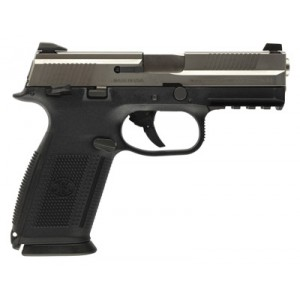 """FN Herstal FNS-9 9mm 17+1 4"""" Pistol in Stainless Steel (Manual Safety) - 66928"""
