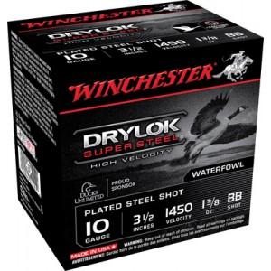 "Winchester Supreme Hi Velocity Waterfowl .10 Gauge (3.5"") BB Shot Steel (250-Rounds) - SSH10BB"